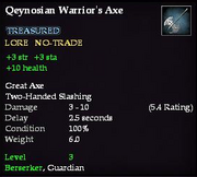 Qeynosian Warrior's Axe