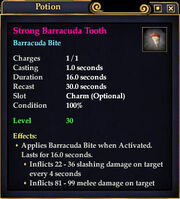 Strong Barracuda Tooth