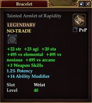 Tainted Armlet of Rapidity