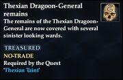 Thexian Dragoon-General remains