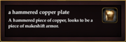 A hammered copper plate