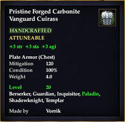 Carbonite Vanguard Cuirass