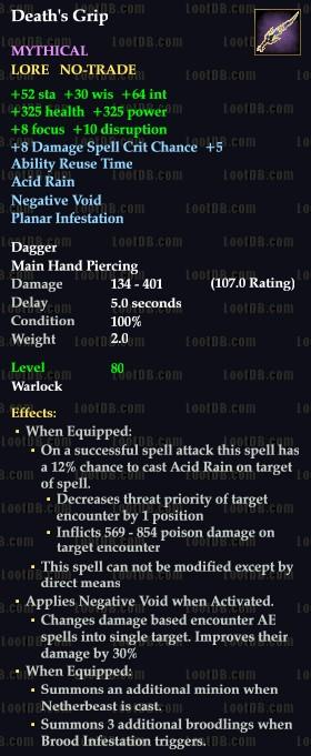 Death's Grip < Death's Grip (Mythical) > | EverQuest 2 Wiki | FANDOM