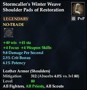 Stormcaller's Winter Weave Shoulder Pads of Restoration