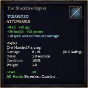 The Blackfire Rapier