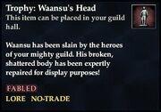 Trophy Waansu's Head
