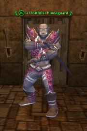 A Deathfist bloodguard