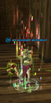 An assistant alchemist