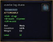 Crawler leg charm
