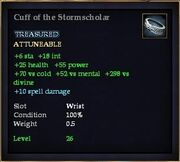 Cuff of the Stormscholar