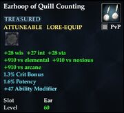 Earhoop of Quill Counting