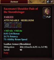 Sacrosanct Shoulder Pads of the Stormbringer