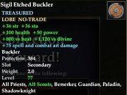 Sigil Etched Buckler