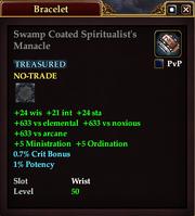 Swamp Coated Spiritualist's Manacle