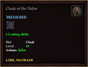Cloak of the Tailor
