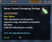 Focus- Lesser Sweeping Swings