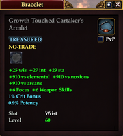 Growth Touched Cartaker's Armlet