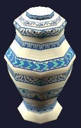 Ornate Porcelain Urn (Visible)