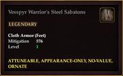 Vesspyr Warrior's Steel Sabatons