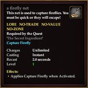 A firefly net
