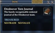 Drednever Torn Journal