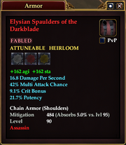 Elysian Spaulders of the Darkblade