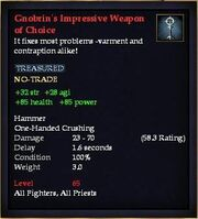 Gnobrin's Impressive Weapon of Choice
