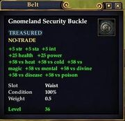 Gnomeland Security Buckle