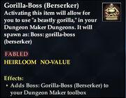 Gorilla-Boss (Berserker)