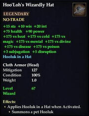 Hoo'Loh's Wizardly Hat