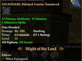 Polished Granite Tomahawk (HQ Reward)
