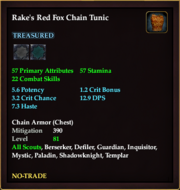 Rake's Red Fox Chain Tunic