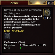 Ravens of the North ceremonial smithing vest