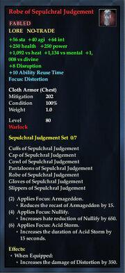 Robe of Sepulchral Judgement