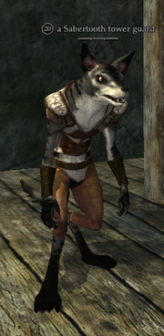A Sabertooth tower guard