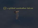 A gilded sunfeather falcon