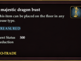 A majestic dragon bust