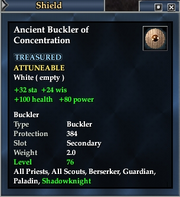 Ancient Buckler of Concentration
