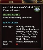 Astral Adornment of Critical Chance (Lesser)