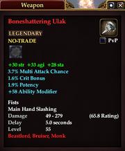 Boneshattering Ulak