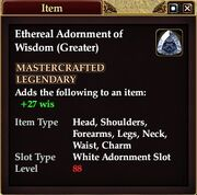 Ethereal Adornment of Wisdom (Greater)