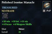 Polished Irontoe Manacle