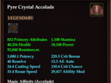 Pyre Crystal Accolade