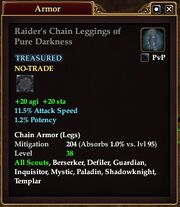 Raider's Chain Leggings of Pure Darkness
