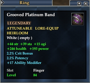 Grooved Platinum Band