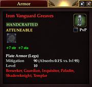 Iron Vanguard Greaves