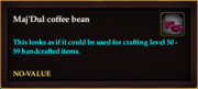 Maj'Dul coffee bean