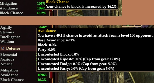 No real block chance for mage