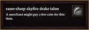 Razor-sharp skyfire drake talon