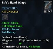 Sifu's Hand Wraps (Treasured)